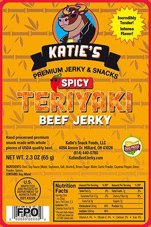 Katie S Spicy Teriyaki Beef Jerky